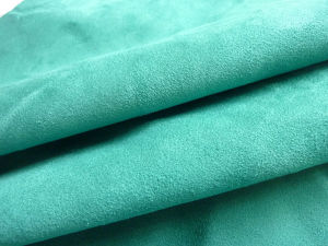 Upholstery Fabric 100% Polyester Weft Suede Fabric for Garment and Shoes pictures & photos