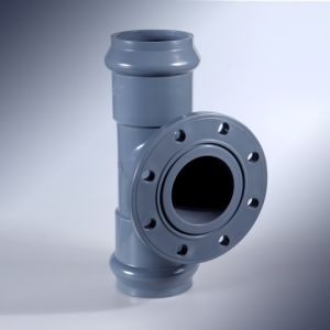 Faucet Tee with Flange Branch (F/F) - PVC Rubber Ring Fittings pictures & photos