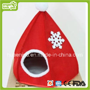 Christmas Hat Shape Felt Pet House pictures & photos