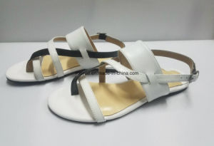 Lady Kid Leather Flat Women Sandals pictures & photos