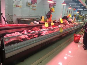 High Quality with Curtain Meat Chiller Refrigerator for Supermarket/Restaurant pictures & photos