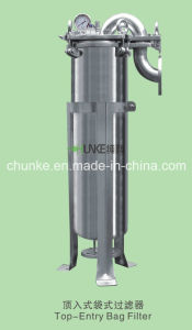 Chunke Stainless Steel Bag Filter Housing for Water Treatment Equipment pictures & photos