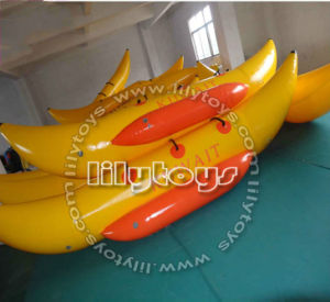 Popular Hottest PVC Type Yellow Inflatable Banana Boat for Lake pictures & photos