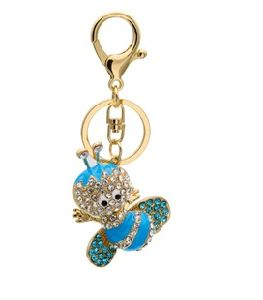 Diamond Bee Key Chain Auto Hang Gifts Alloy Key Ring