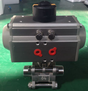 Pneumatic Welded 3PC Ball Valve pictures & photos