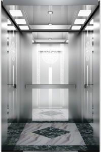 Gearless Traction Passenger Elevator with Mirror Etching Stainless Steel pictures & photos