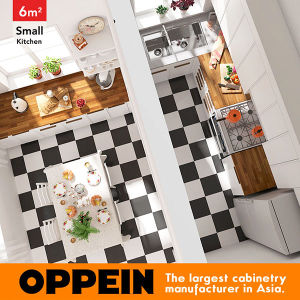 6 Square Meters L-Shaped Nordic Style Small Kitchen (OP16-L27) pictures & photos