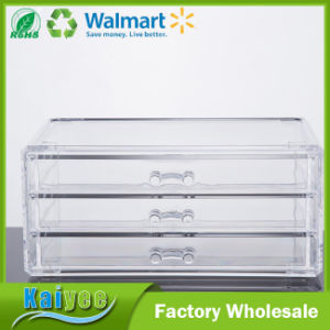 Three Tier Drawer Acrylic Makeup Organizer Clear Cosmetic Storage Organizer pictures & photos