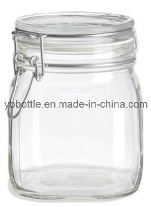 100ml Gift Packing Air-Tight Square Glass Jar pictures & photos
