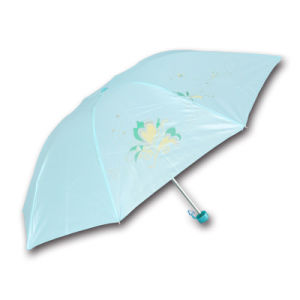 Factory Promotional Small 3 Folds Cheap Gift Umbrella pictures & photos