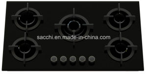 5 Burner Tempered Glass Gas Hob - Gna586 pictures & photos