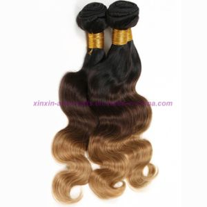 Blonde Weave Bundles Mongolian Ombre Human Hair Three Tones Ombre Hair Body Wave with 2, 3 or 4 Bundles pictures & photos