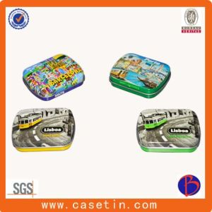 Rectangle Custom Printed Metal Tin Box / Candy Tin Box / Mint Tin with Keychain pictures & photos
