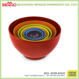 Colorful 6 PCS Plastic Melamine Mixing Bowl Set pictures & photos