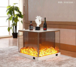 Ce Approved MDF Home Furniture Electric Fireplace Light LED (T-309) pictures & photos
