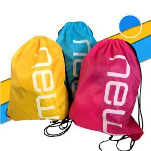 Wholesale Backpack Style Nylon Polyetser Promotional Gym Sack Drawstring Bag pictures & photos