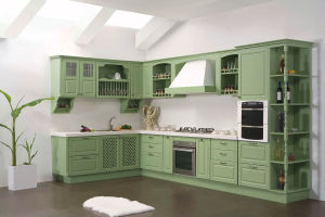 American Style Kitchen Furniture Solid Wood Kitchen Cabinet pictures & photos
