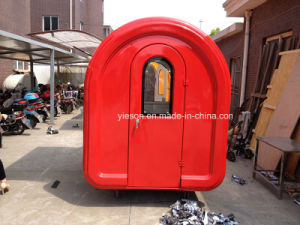 Fiberglass Push Trolley Food Cart Commercial Hot Dog Cart pictures & photos