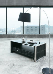 High Grade Coffee Table with Tempered Glass (CT-V1) pictures & photos