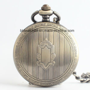 OEM Antique Bronze Pocket Watch with Mechanical Movement pictures & photos