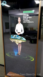 Switchable Smart Makeup Mirror Frameless Magic Glass (S-F7) pictures & photos