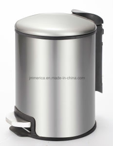 Round Stainless Steel Metal Mirror Pedal Bin Trash Can pictures & photos