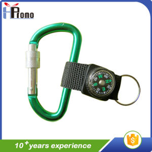 Aluminium Carabiner with Lanyard and Compass pictures & photos