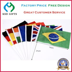2017 High Quality Waving Polyster Promotional Hand Flag pictures & photos