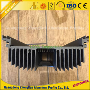 Extruded Aluminum Extrusion Rectangular Heat Sink Industry Use pictures & photos