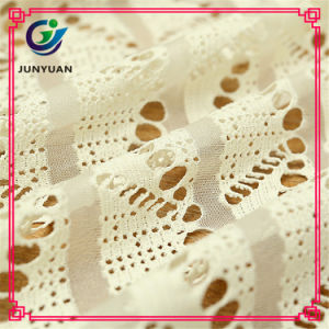 85% Cotton 15% Nylon Warp Knitting Crochet Lace Fabric pictures & photos