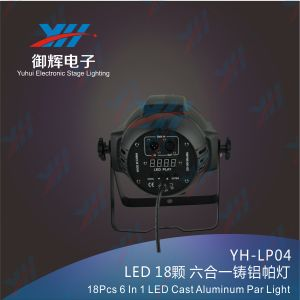 18PCS 18W RGBWA UV LED PAR 6in1 Cast Aluminum PAR Stage Light pictures & photos