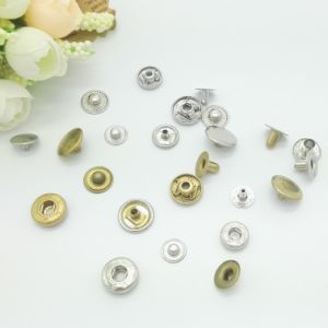 Nickel Color Custom Metal Snap Buttons pictures & photos
