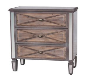 Reclaimed Livingroom Furniture Three Drawer Mirror Wooden Chest pictures & photos