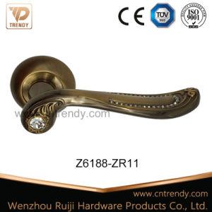 Zinc Alloy Zamak Door Furniture Lever Handle with Crystal (Z6200-ZR09) pictures & photos