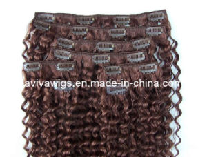 100% Virgin Remy Clip in Hair Extension with Deep Wave pictures & photos