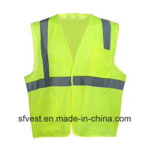 100% Polyester Safety Reflective Mesh Vest Workwear with One Pocket pictures & photos