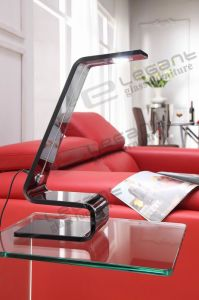 S Shape Grey Glass Table Lamp with LED on Sale pictures & photos