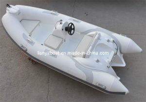 Liya High Quality 12.5ft Rigid Hull Fiberglass Inflatable Boat pictures & photos