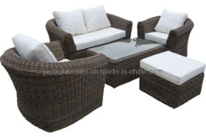 Garden Outdoor Wicker Patio Round Rattan Sofa (PAS-030)