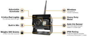 130° Backup Camera with 9 Infra-Red Illuminators pictures & photos