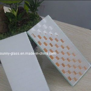 2-6mm Acid Etched Silver Mirror Glass