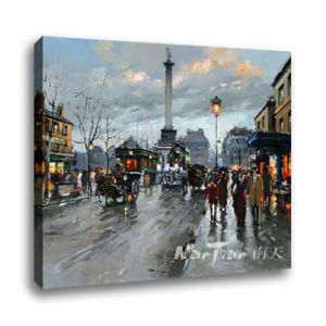 Landscape Oil Painting - Paris Street