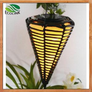 Solar Decorative Lights Ratten Cone Light pictures & photos