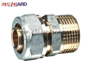 Pex-Al-Pex Fitting/Straight Male Coupling with Nickel Plated