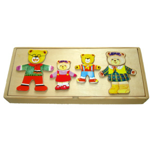 Wooden Dress up Bear (4 bears) pictures & photos
