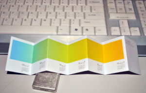 Four Colors Offset Printing Folded Leaflet Calendar Printing pictures & photos