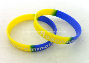 Fashion Printed Blue DIY Silicone Wristband pictures & photos