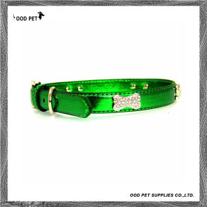 Metalic with Bling Rhinestones Dog Collar (SPC7052-1) pictures & photos