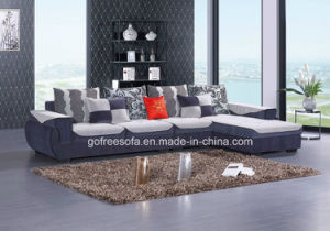 L Shape Fabric Sofa with Armrest