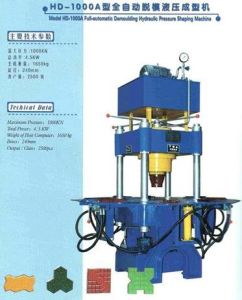 Hydraulic Block Machine, Pavement Block Machine (XD-1000)